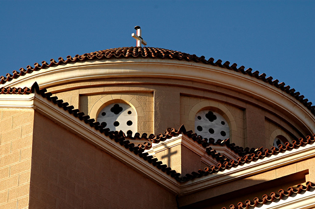 dreamstime_1689582_A nice detail from the church of Agia Marina at Chalkis.